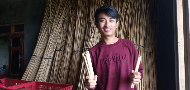 Keren! Dari Sedotan Bambu, Pemuda Madiun Raih Omzet Rp90 Juta/Bulan