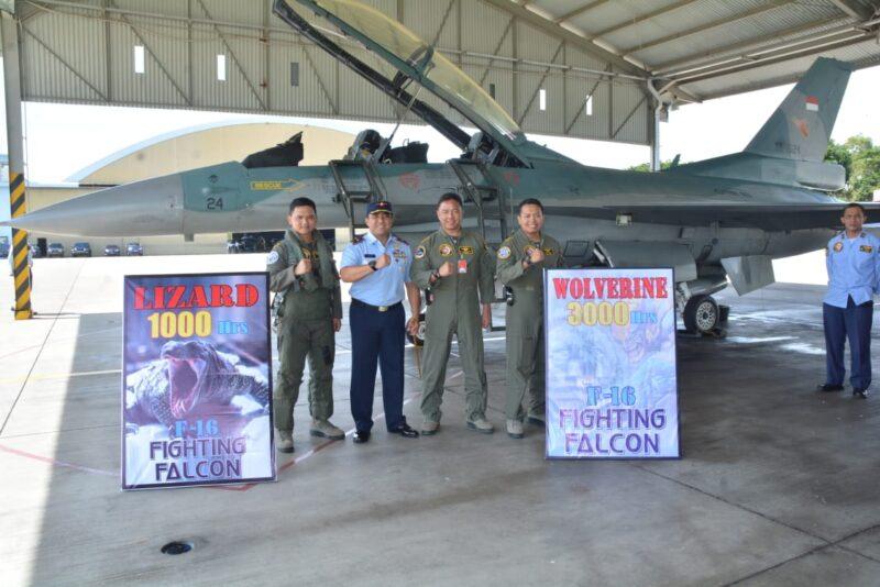 2 Pilot Lanud Iswahjudi Raih 3.000 dan 1.000 Jam Terbang
