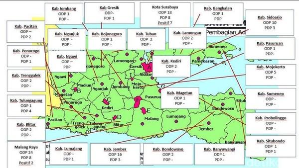 Surabaya Dan Malang Zona Merah Corona