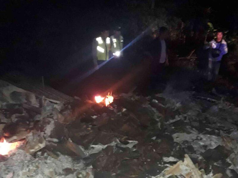 Kasihan, Rumah Seorang Perempuan Lansia Miskin Di Ponorogo Ludes Terbakar