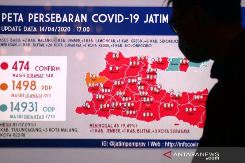 Update Covid-19 Jatim! Pasien Positif Bertambah 36 jadi 474 Orang