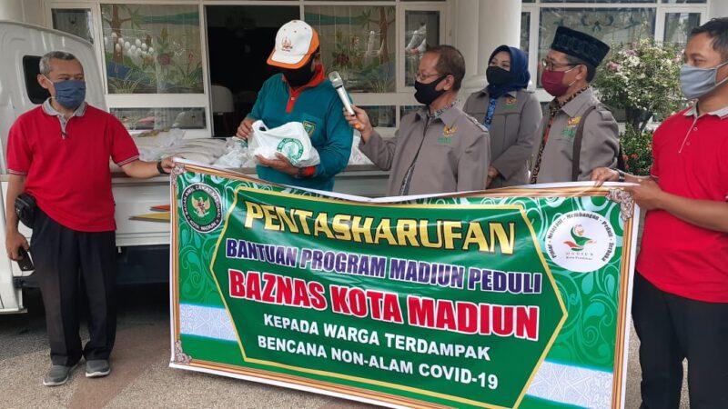 Baznas Kota Madiun Salurkan Bantuan Rp45 Juta Bagi Warga Terdampak Covid-19