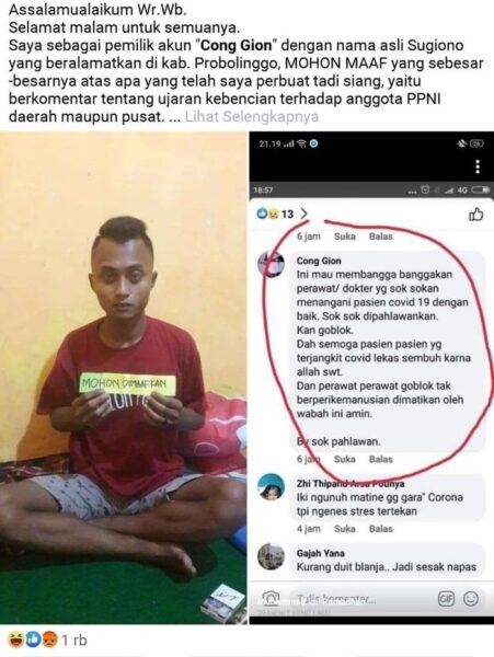 Pria di Probolinggo yang Hina Perawat di Facebook, Akhirnya Ditangkap Polisi