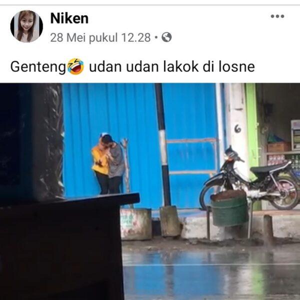 Hebohnya Video ABG Ciuman di Tempat Umum, Viral di Banyuwangi