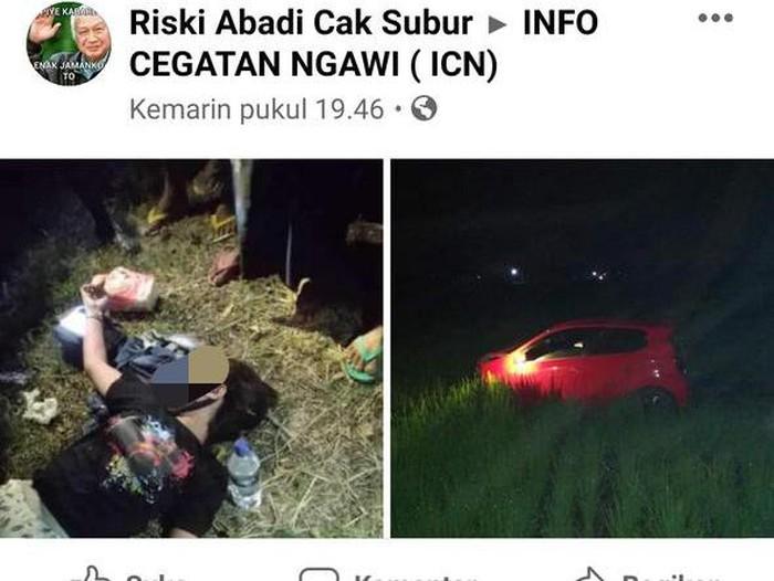 Viral, Wanita Cantik Asal Magetan Nyemplung Sawah di Ngawi