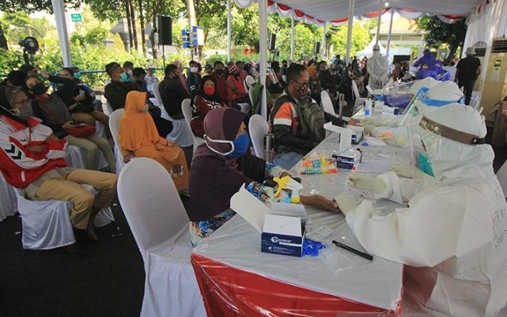 12.629 Orang di Surabaya dan Sidoarjo Ikut Rapid Test, 1.815 Dinyatakan Reaktif