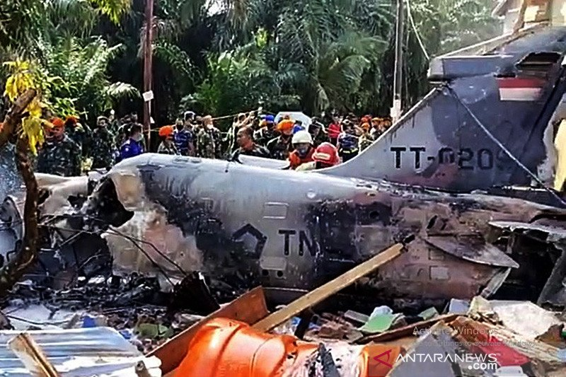 KSAU: Ada Letupan Sebelum Pesawat Tempur Jatuh di Riau