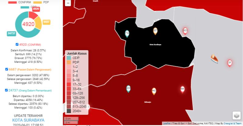 Tak Lagi Merah, Peta Kota Surabaya Jadi Hitam, Apa Artinya?