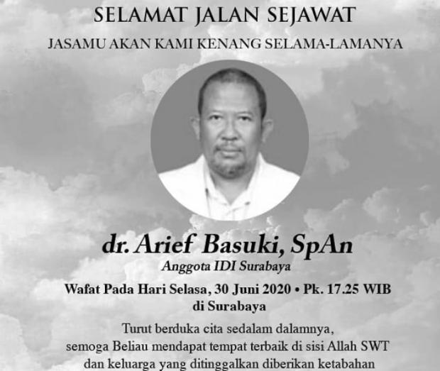 Sudah 10 Dokter di Surabaya Tumbang Karena Covid-19