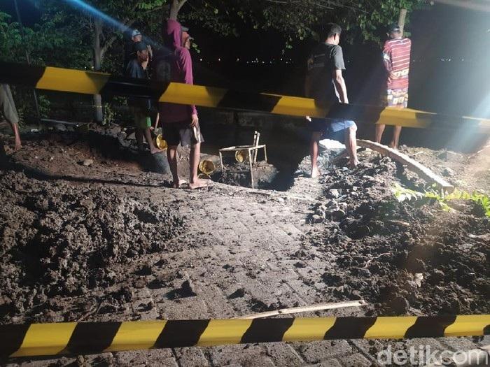 Warga Sidoarjo Dikejutkan Ledakan Pipa Gas Bocor