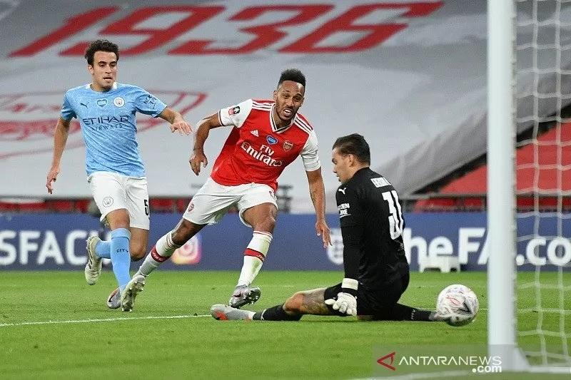 Dua Gol Aubameyang ke Gawang City, Bawa Arsenal ke Final Piala FA