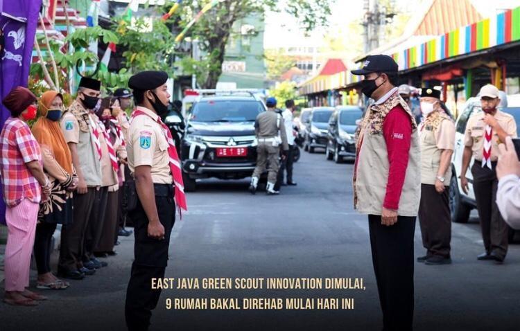 Gerakan Pramuka Jawa Timur Bantu Rehab Rumah Warga, Salam Pramuka!