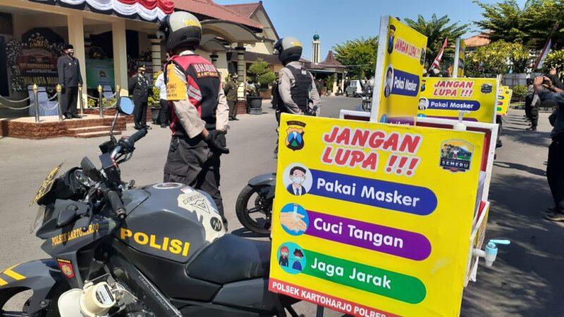 HUT Ke-74 Bhayangkara, Polres Madiun Luncurkan Sepeda Motor Tangguh Covid-19
