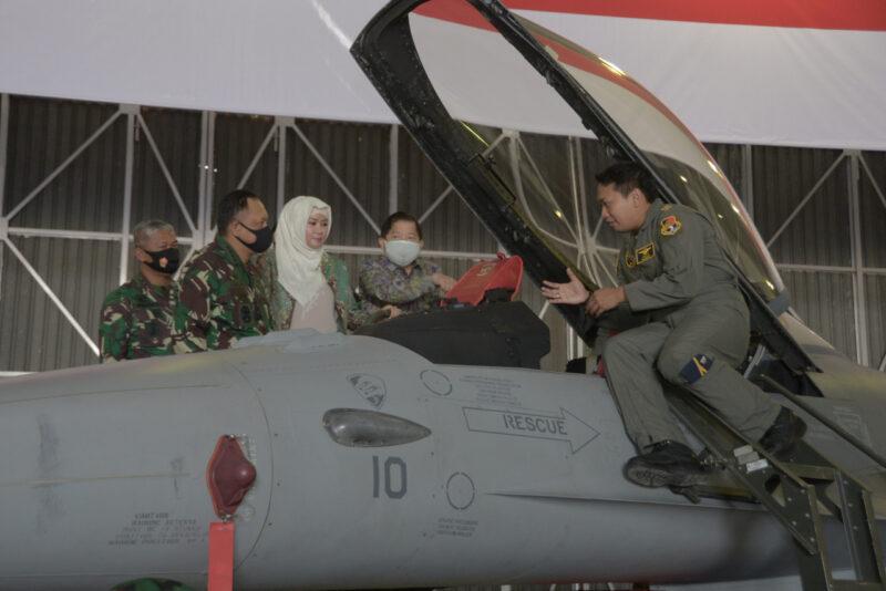 Mantap! Dua Pesawat Tempur F-16 Milik TNI AU Semakin Canggih Setelah Upgrade