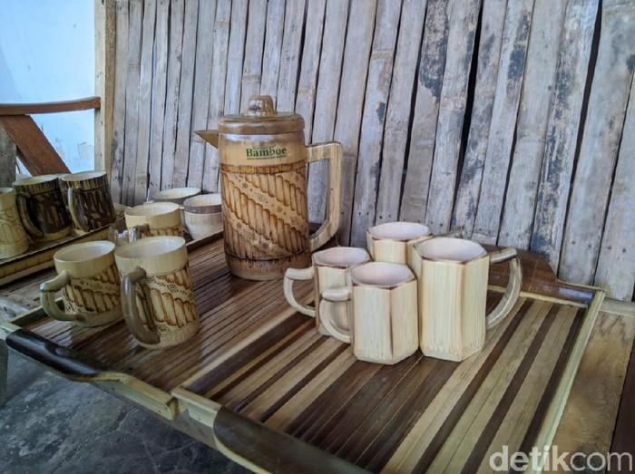 Cantiknya Cangkir Bambu Buatan Pengrajin Bambu Ponorogo