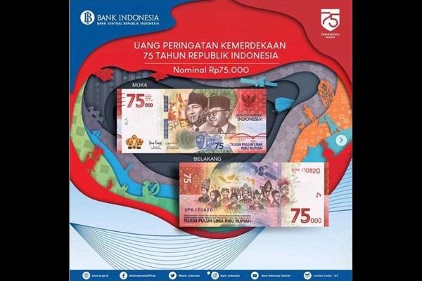 Begini Cara Dapatkan Uang Baru Rp75.000 Edisi Khusus Kemerdekaan Indonesia