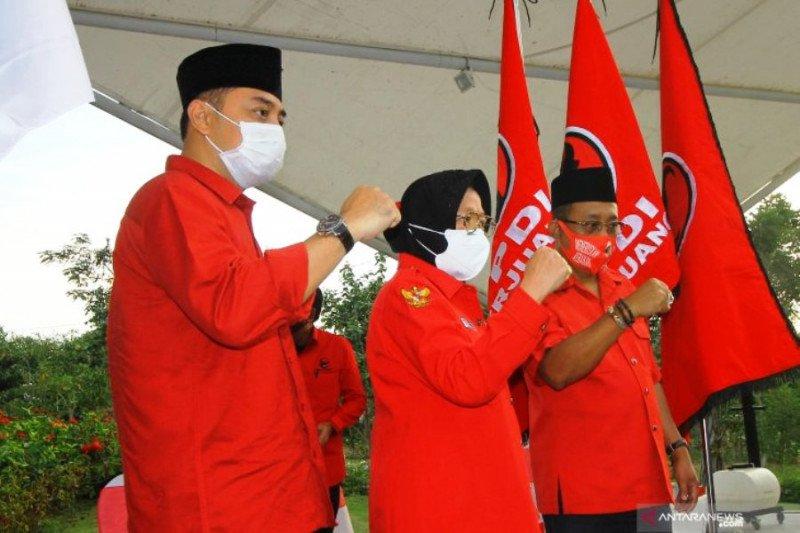 Risma dan Wisnu Sakti Buana akan Antar Eri Cahyadi-Armuji Mendaftar ke KPU Surabaya
