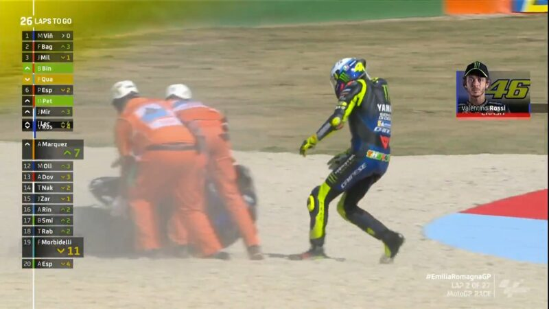 Rossi Mengaku Malu Jatuh Lagi di MotoGP Catalunya