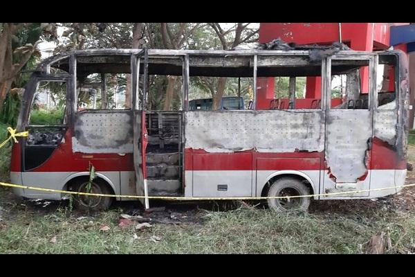 Iseng Bakar Kursi Bikin Bus Hangus, 3 Bocah Diperiksa Polisi