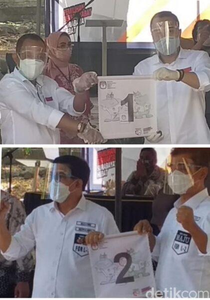 Pilkada Surabaya 2020: Eri Cahyadi-Armuji dapat Nomor Satu, Machfud Arifin-Mujiaman Nomor Dua