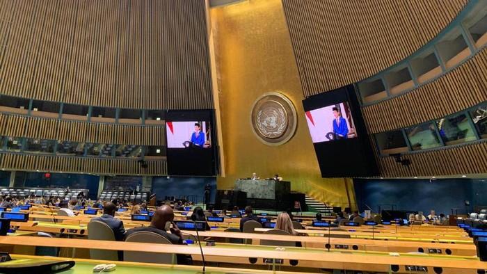 Isi Pidato Perdana Jokowi di SMU PBB, Dukung Kemerdekaan Palestina Hingga Sebut Kedamaian Belum Tercapai