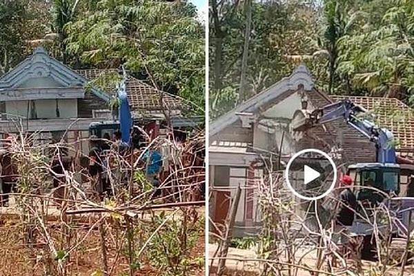 Viral!! Rumah Gedong di Ponorogo Dirobohkan Anak karena Ibu Tak Kunjung Bayar Utang