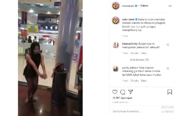 Viral!! Wanita Seksi Ini Kena Hukuman Squat Jump 20 Kali, Netizen: Pelecehan!