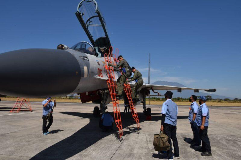 4 Pesawat Tempur Sukhoi Tiba di Lanud Iswahjudi