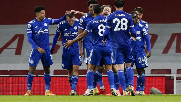 Arsenal 0-1 Leicester City: Gol Tunggal Vardy Bungkam The Gunners