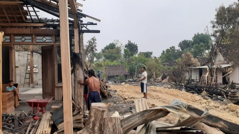 3 Rumah dan Gudang Mebel Milik Kadus di Ngawi Ludes Terbakar, Kerugian Mencapai Rp700 Juta