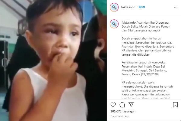Gara-Gara Ngompol, Bocah 4 Tahun Dianiaya Paman dan Bibinya