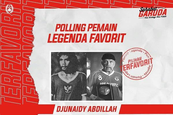 Djunaidy Abdillah Jadi Legenda Favorit Pilihan Sobat Garuda