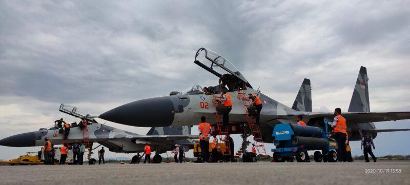 46 Pesawat TNI Jalani Latihan Tempur di Lanud Iswahjudi Selama 10 Hari