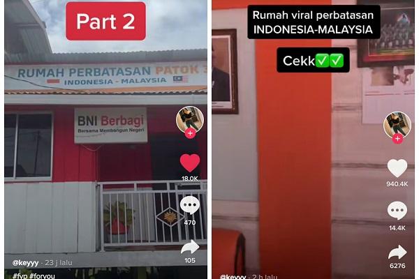 Rumah Dua Negara, Terima Tamu di Indonesia Makan di Malaysia