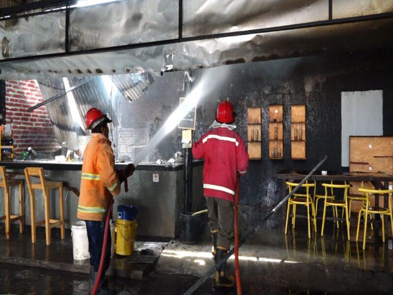 Kafe di Kota Madiun Terbakar, Ini Penyebabnya