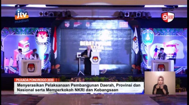 Sakit, Ipong Muchlissoni Tak Hadir Dalam Debat Publik Ketiga Pilkada Ponorogo