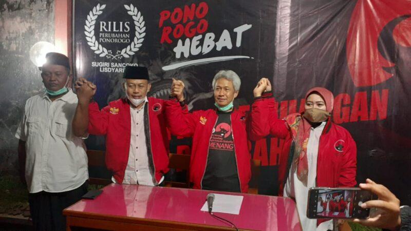Quick Count Internal Raih 65% Suara, Cabup Sugiri : Ini Kemenangan Masyarakat Ponorogo