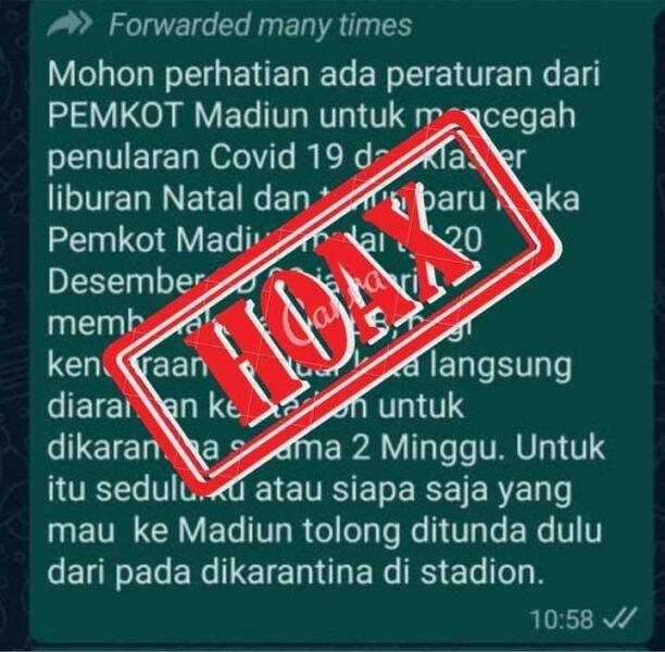 Beredar Berita Madiun PSBB saat Nataru, Wali Kota : Itu Tidak Benar