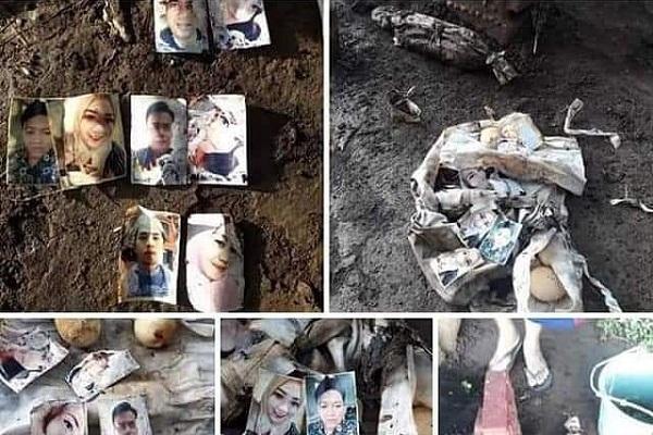 Viral, Kain Kafan Berisi Foto Sejoli di Makam Keramat Pasuruan