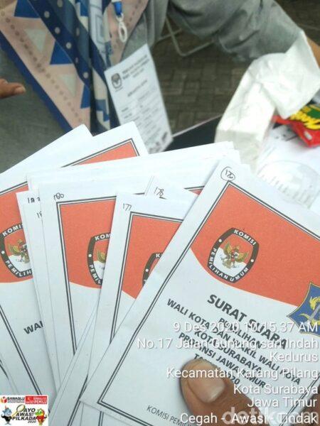 Satu TPS di Surabaya Harus Coblosan Ulang
