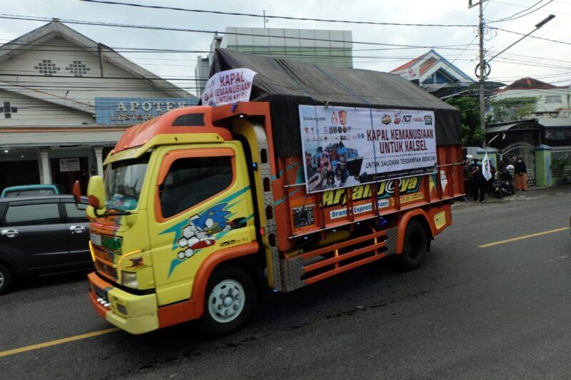 Masyarakat Madiun Kirim 5 Ton Bantuan ke Korban Bencana Kalsel