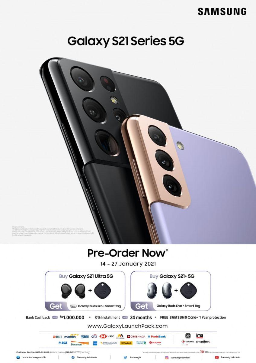 Pre order Samsung Galaxy S21+ 5G (Istimewa)