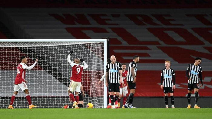 Arsenal 3-0 Newcastle United: Aubameyang Cetak Brace