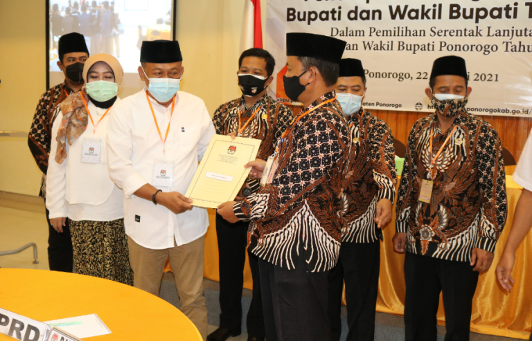 KPU Tetapkan Bupati dan Wakil Bupati Terpilih di Ponorogo, Ngawi, dan Pacitan