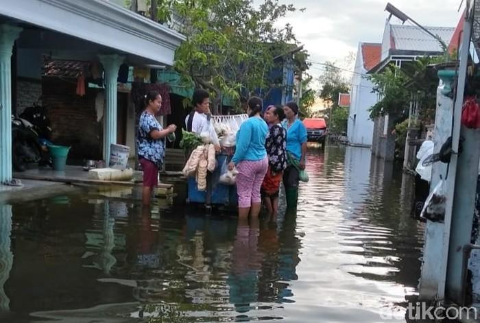 Warga Desa di Lamongan Dikepung Banjir Hampir Satu Bulan
