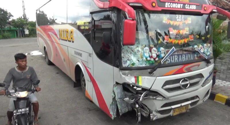 Lagi, Bus Mira Tabrak Sepeda Motor di Madiun, Satu Orang Tewas