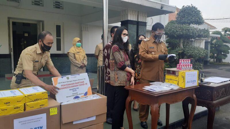 Cegah Penularan Corona, BTN Berikan 2.000 Health Kit ke Pemkot Madiun