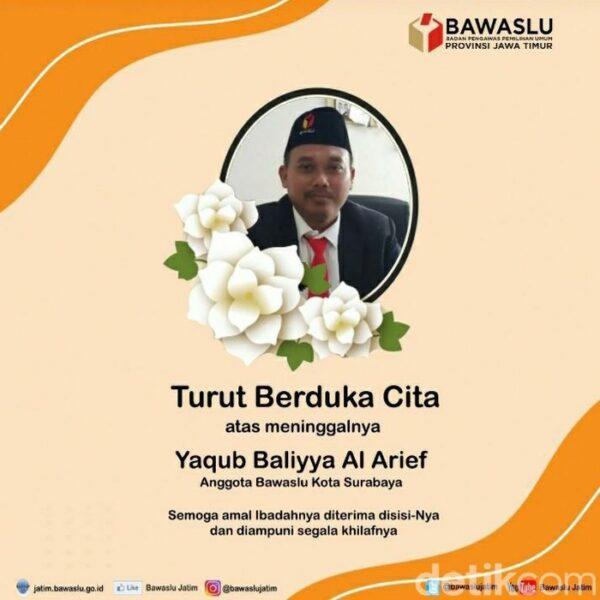 Terpapar Covid-19, Anggota Bawaslu Surabaya Meninggal