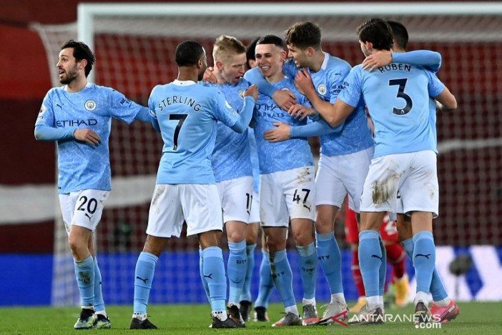 Pecundangi Liverpool, City Kini Memimpin 5 Poin di Puncak Klasemen
