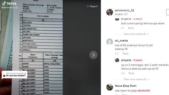 Viral, Pasutri di Malang Punya 15 Anak